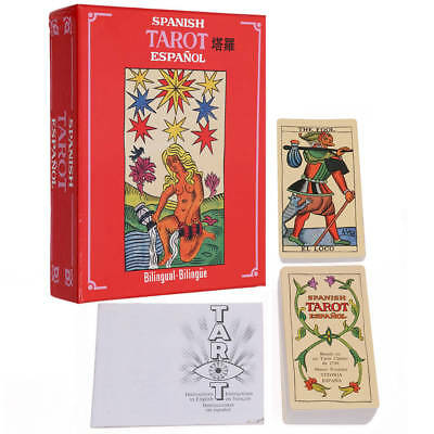 Spanish Tarot Card Espanol Deck 78 Cards Esoteric Divination Telling Fournier