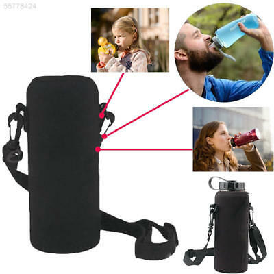 05F0 600ML Neoprene Water Bottle Carrier Insulated Cover Bag Holder Strap Drink