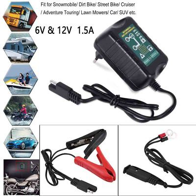 6V / 12V selectable 2 in 1 1.5Amp motorcycle Car scooter battery charger maintai