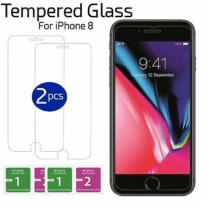 100% New Genuine Tempered Glass Film Screen Protector For Apple iPhone 8