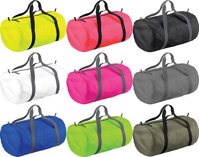 Bag Base Pack Away Foldable Ultra Light Barrel Duffel Gym Sport Bag Sack **New