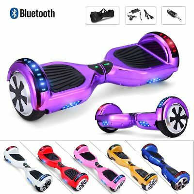 """6.5"""" Smart Scooter électrique Self Balancing Board Overboard Bluetooth LED"""