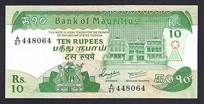 Mauritius 10 Rupees 1985 UNC P. 35,   Banknote, Uncirculated