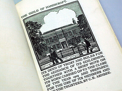 THE GUILD OF HANDICRAFT Its deed of trust and rules | From library of C R Ashbee
