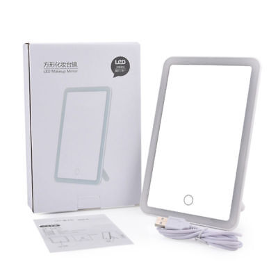 180° Rotation LED Makeup Mirror USB Charging with Touch Screen Cosmetic Tabletop