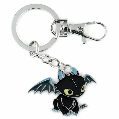 UK How To Train Your Dragon Night Fury Toothless Pendant Keychain Keyring Charm