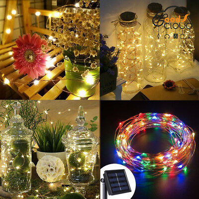Solar Powered 33Ft 100 LED 10M Copper Wire Light String Fairy Xmas Party Decor