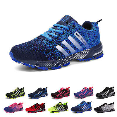 Mens Womens Trainers Running Breathable Shoes Sports Casual Sneakers Athletic UK