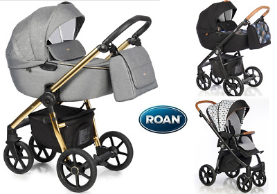 Stroller Roan Esso pram puschair 2in1 sport seat carrycot elegant and comfy