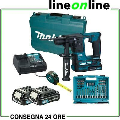 Makita HR140DSAE1 Tassellatore a batteria SDS - Kit 66 accessori 10,8V Trapano