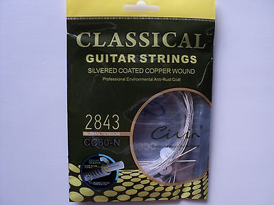 Classical Acoustic Guitar Strings Nylon Silver Coated