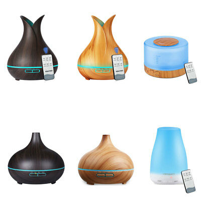 500ML Humidifier LED Ultrasonic Air Aromatherapy Essential Oil Diffuser Cool Air