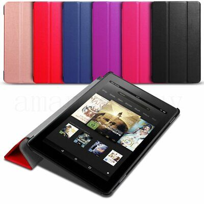 For 2017 Amazon Kindle Tablet Fire 7 HD8 Magnetic Smart Leather Case Cover Stand