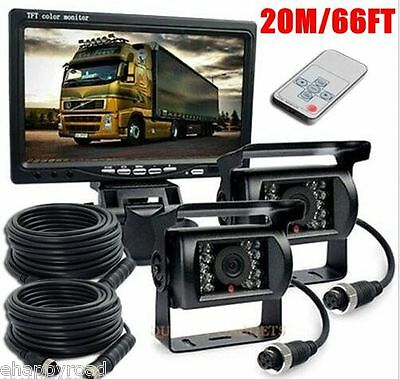"""For RV Truck Bus IR Rear View Back up Camera Night Vision System+7""""HD Monitor"""