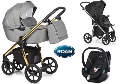 Stroller Roan Esso 3in1 pram carrycot puschair sport seat car seat adapters