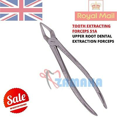 Tooth Extracting Forceps 51A Upper Roots Extraction Dental Instruments Zamaha UK