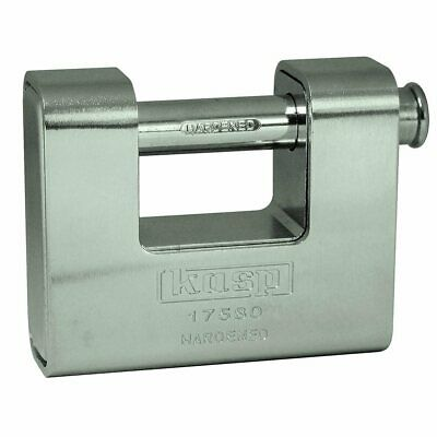 Kasp 80mm Armoured Shutter Lock High Security Shutter Van Gate Padlock - K17580D