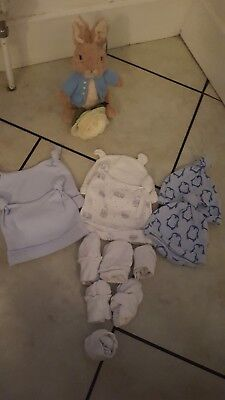 BABY BOYS Hats And Scratch Mits bundle