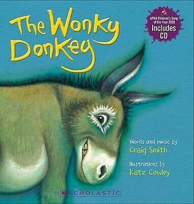 NEW The Wonky Donkey by Craig Smith Board Book with CD (Free Shipping)
