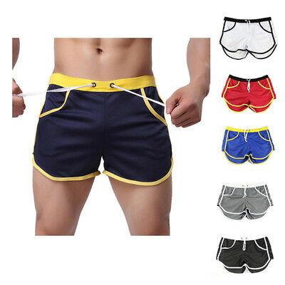 Casual Mens Swim Shorts Swimwear Swimming Trunks Underwear Boxer Briefs M-2XL
