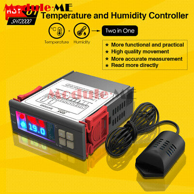 AC 110~230V 10A SHT2000 Thermostat Temperature Humidity Hygrometer Controller