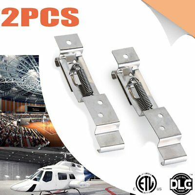 2PCS Car Truck Trailer Number Plate Clips Holder Spring Loaded Stainless Steel