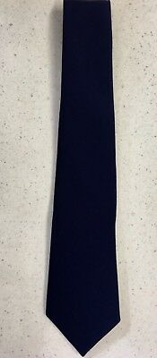 "*SALE* Navy Blue Polyester Wrap Tie - 143cm / 56"" Long"