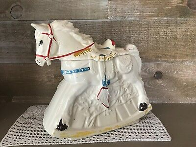 McCoy Rocking Hobby Horse Figurative Cookie Jar Carousel Carnival