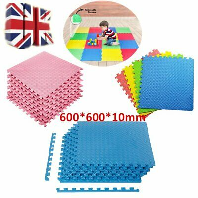 High Quality 60x60cm Interlocking EVA Soft Foam Kids Play Mats Tiles Set Safety
