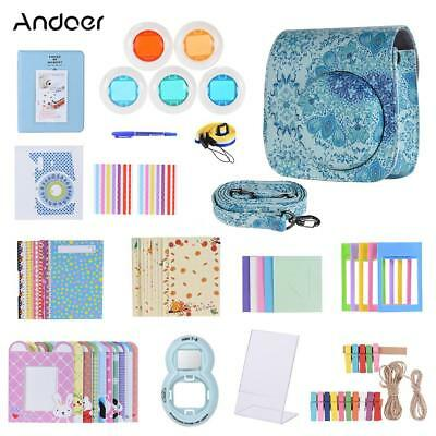 Andoer 14 in 1 Accessories Bundle +Case/Strap for Fujifilm Instax Mini 8/8+/8s/9