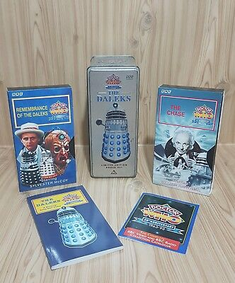 1993 Limited Edition 30th Anniversary Doctor Who Dalek Collector VHS Set & Tin