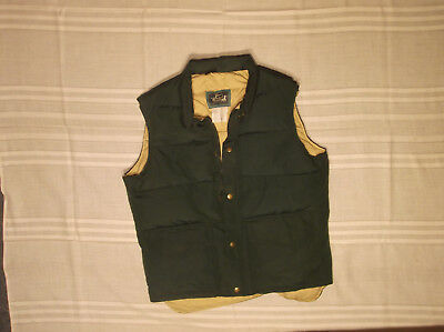 Woolrich Mens Vest Loden Green Medium M Puffer Vtg Usa Made Down Insulated Warm