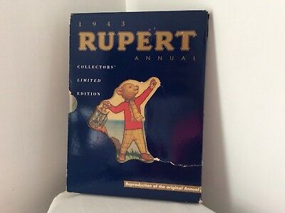 Rupert Bear 1943 Annual Reproduction/ Facsimile Limited Edition by Pedigree