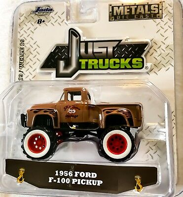 Jada 1:64 Just Trucks 1956 Ford F-100 Pickup * Custom 4X4 Classic Lifted