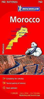 Morocco Map - Michelin 742 - New - Current Edition - 2018 Edition