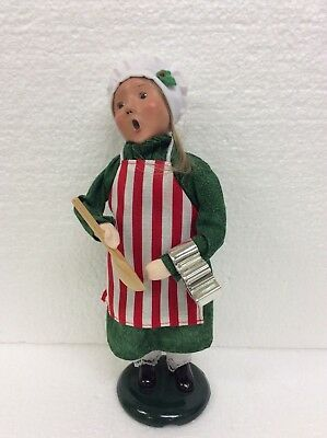 Byers Choice Caroler Girl Making Cookies Striped Apron Holiday Christmas Decor