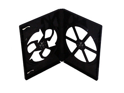 35 Multi Pack Dvd Cd Disc Standard Double Black 14mm Cases Case Movies Holds 2