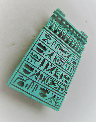 Ancient Egyptian Faience Heiroglyphic Amulet