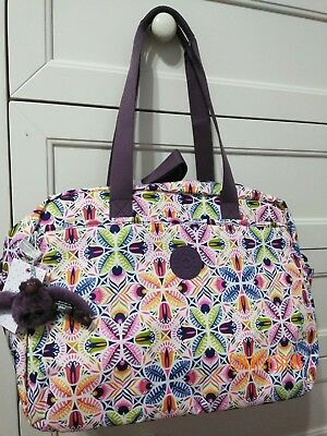 New - Kipling Popper Print Baby Diaper Bag With Changing Pad - Vibrant Collage