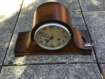Vintage Large Napoleon Hat Clock with Key D.R.G.M. Movement - For Repair