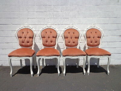 Dining Chairs 4 Italian Rococo Baroque French Provincial Neoclassical Hollywood