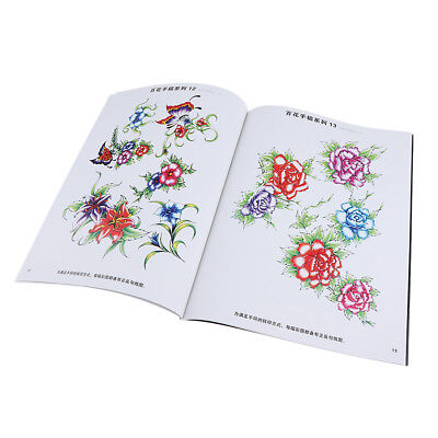 A4 Butterfly & Flowers Design Tattoo Reference Book Sketch 40 Pages Gift