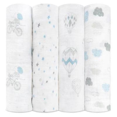 aden + anais 4 PACK CLASSIC SWADDLE Gift boxed Night Sky Reverie FREE SHIPPING