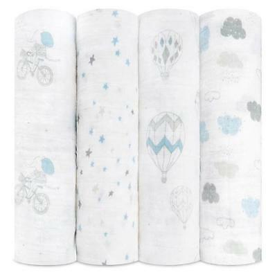 aden and anais breathable muslin 4-pack swaddle - Night Sky Reverie FREE POST