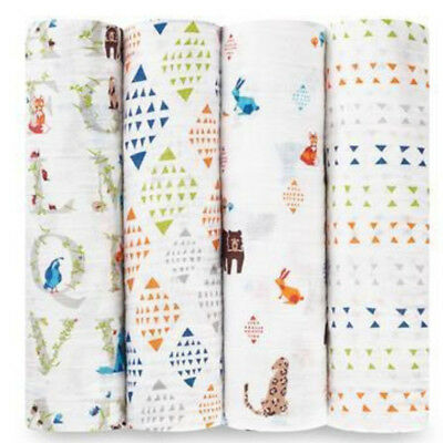 aden + anais 4 PACK CLASSIC SWADDLE Gift boxed Paper Tales FREE SHIPPING