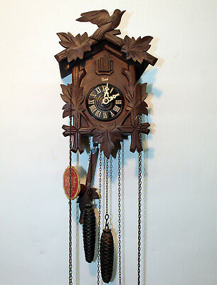 Old Cuckoo Clock Wall Black Forest made in Germany