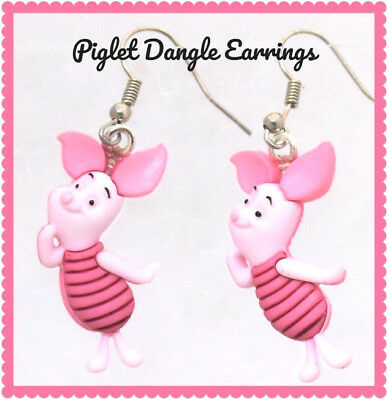 909ddc06f0e52 DISNEY PIGLET FROM Winnie The Pooh Dangle Earrings Christmas Holiday NWT