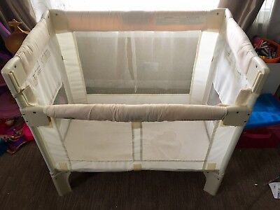 Arms Reach Co Sleeper Natural In Great Condition With Carry Bag