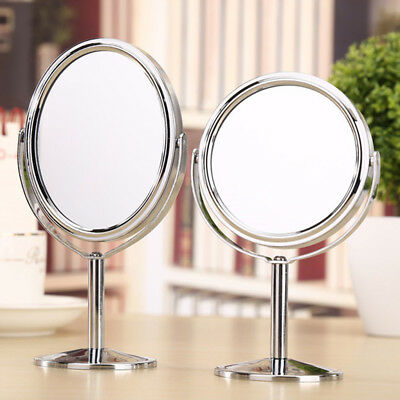 Cosmetic Makeup Mirror Stand Double Sided Magnifying 3inch Small Round Portable