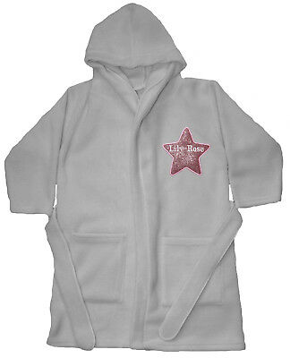 Girls Luxury Applique Star Super Soft Fleece Dressing gown/ Bath robe